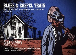 Blues and Gospel Train - Flyer