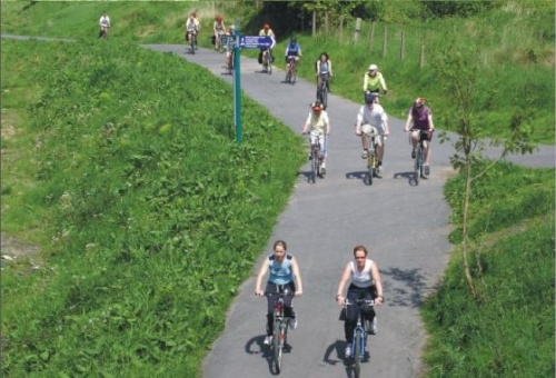 Fallowfield Loop in use after conversion to useable route