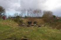 SACV and FotFL volunteers work on new community orchard, Abbey Hey ii