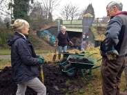 Volunteers and compost