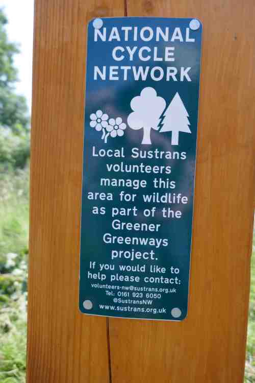 National Cycle Network - volunteering sign